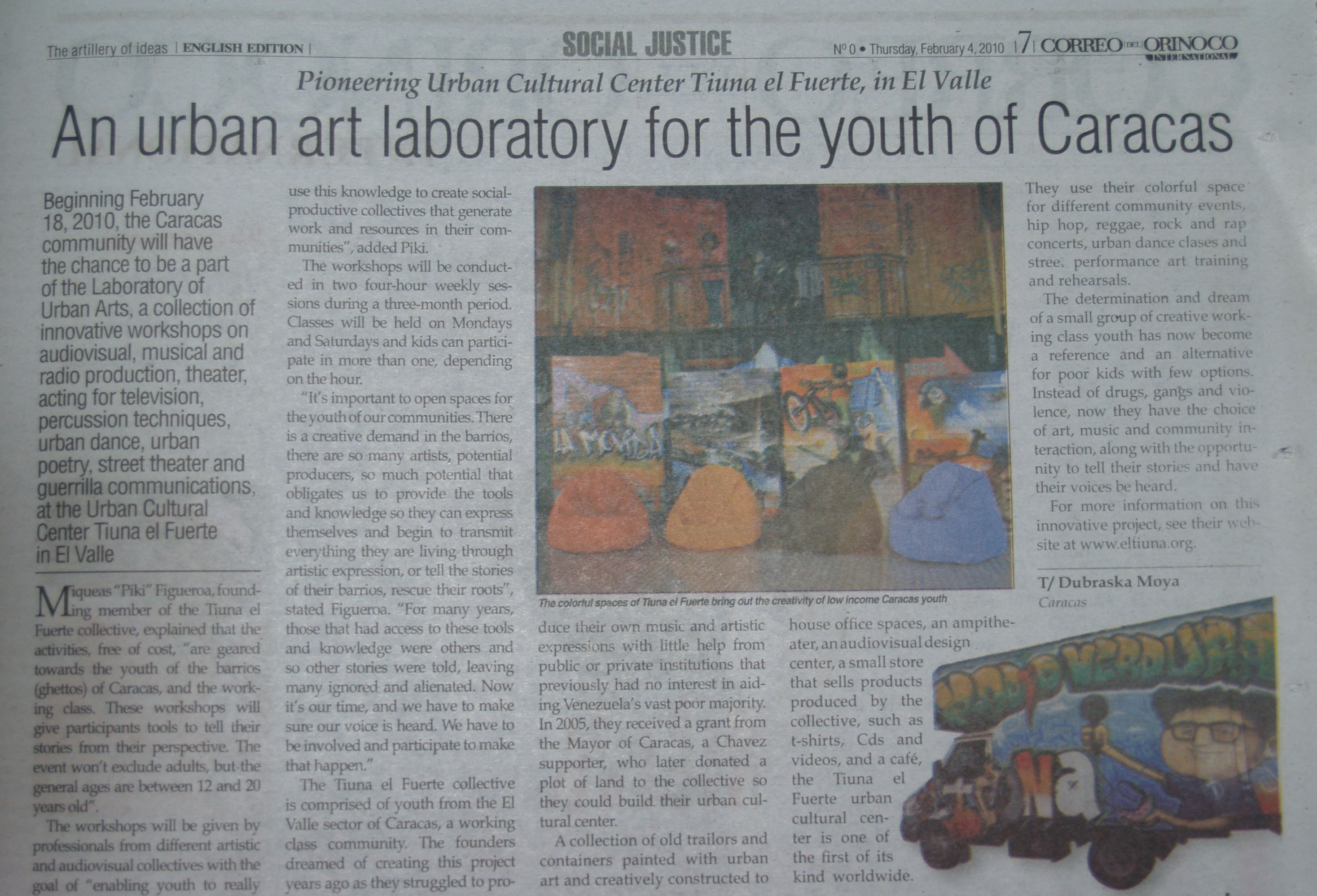 An urban art laboratory for the youth of Caracas